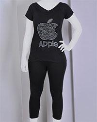 تی شرت و شلوار طرح اپل مدل 3250
