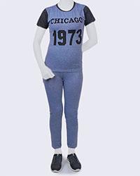 تی شرت و شلوار زنانه Chicago مدل0857