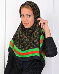 روسری حریر طرح گوچی مدل 0718