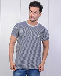 تی شرت راه راه یقه گرد ck مدل 0612