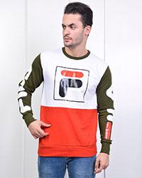 تی شرت پاییزه طرح FILA تمام چاپ مدل 1350