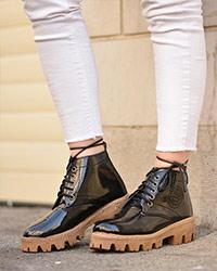 کفش نیم بوت دخترانه مدل 1304