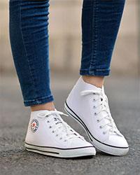 کفش نیم بوت طرح All star مدل 1245