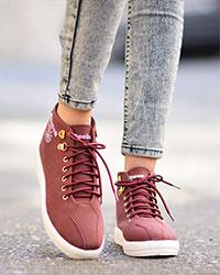 کفش طرح REEBOK دخترانه ساق دار مدل 1131