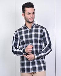 پیراهن مردانه چهارخانه درشت مدل 0949