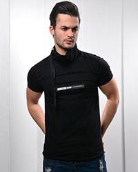تی شرت مردانه یقه شالی مدل 0743