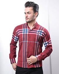 پیراهن مردانه بالا چهارخانه مدل 0769