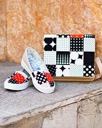 ست کیف و کفش دخترانه خال خال مدل 3394