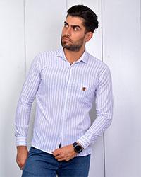 پیراهن مردانه راه راه مدل 3387