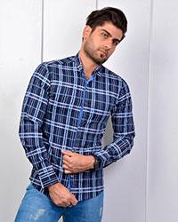 پیراهن مردانه چهارخانه مدل 3304