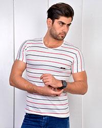 تی شرت مردانه ملانژخطی مدل 3262