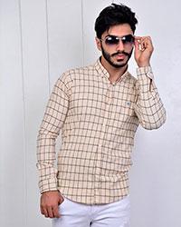 پیراهن مردانه چهارخانه دوخط مدل 2980