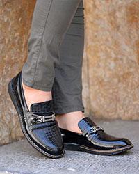 کفش کالج ورنی مردانه مدل 2906