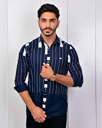 پیراهن مردانه راه راه مدل 2730