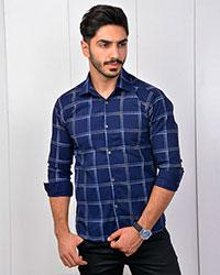 پیراهن مردانه تک جیب چهارخانه مدل 2726