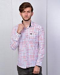 پیراهن مردانه خطی دورنگ مدل 2504