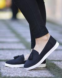 کفش کالج دخترانه منگوله دار مدل 2307