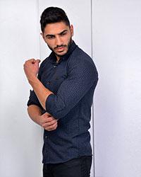 پیراهن مردانه خال خال مدل 2208