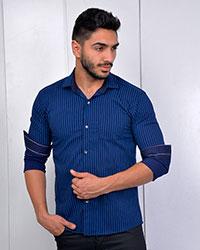 پیراهن مردانه راه راه مدل 2209
