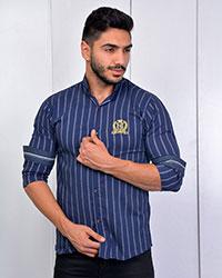 پیراهن مردانه راه راه دوخط مدل 2786