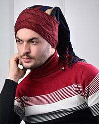 کلاه بافت مردانه رنگین کمان مدل 1977