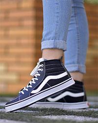 کفش دخترانه ساقدارVANSمدل 4236