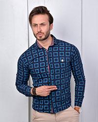 پیراهن مردانه مکعبی مدل 1191