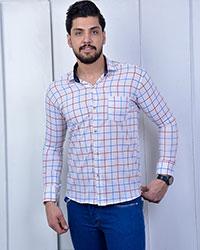 پیراهن مردانه چهارخانه رنگی مدل 1434