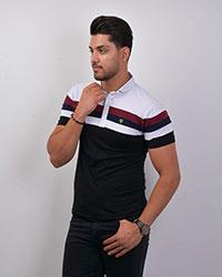 تی شرت مردانه یقه دار مدل 1835