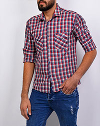 پیراهن مردانه قواره کوچک چهارخانه مدل 2029