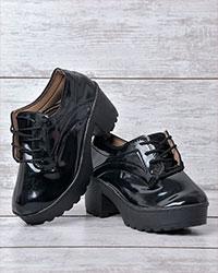 کفش دخترانه پاشنه دار مشکی 2078