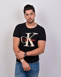 تی شرت مردانه یقه گرد طرح سی کی 2190