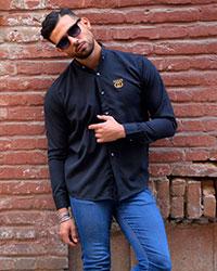 پیراهن مردانه طرح گوچی مشکی مدل 2184