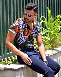 پیراهن مردانه هاوایی مدل 5211