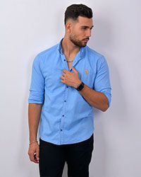 پیراهن مردانه طرح جین 2422