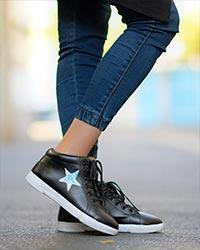 کفش نیم بوت دخترانه ستارهای مدل 2647