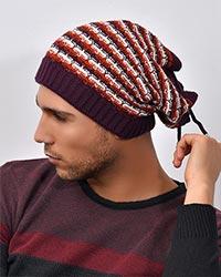کلاه بافت ژاکارد مدل 2927