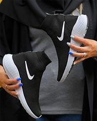 کفش ساقدار بافتی دخترانه OMEN مدل 8545