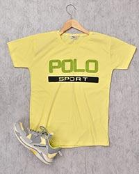 تی شرت مردانه یقه گرد طرح پولو 2191