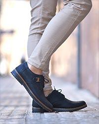 کفش تخت مردانه پوست ماری مدل 2061