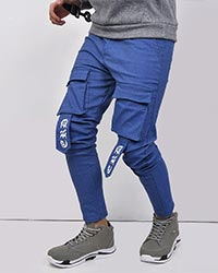 شلوار مردانه طرح جین چاپی مدل 2300