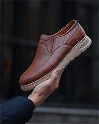 کفش مردانه تخت زیره پیو مدل 3012