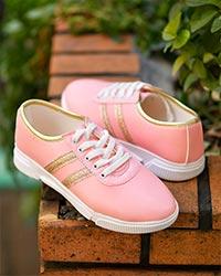 کفش دخترانه دو خط براق مدل 3037