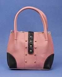 کیف صندوقی دخترانه دور نگین دار مدل 3086