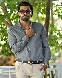 پیراهن مردانه طوسی 0159