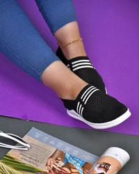 کفش دخترانه تخت 3خط مدل 0295