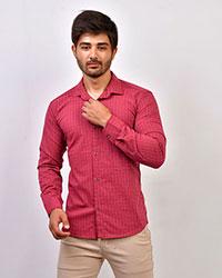 پیراهن مردانه چهارخانه ریز سوزنی مدل 0414