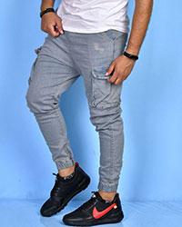 شلوار جین مردانه 6 جیب پایین کش مدل 0571