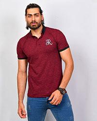 تی شرت مردانه یقه دار ساده R مدل 0584