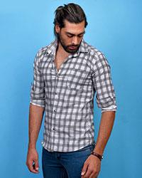 پیراهن مردانه خطی مکعبی مدل 0722